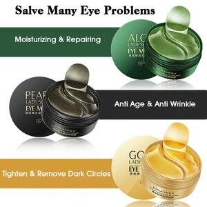 Image 5 - קולגן מסכת עיניים 60pcs = 30pairs לחות זהב ג ל מסכות Hydrogel עיניים תיקוני אנטי הזדקנות אנטי נפיחות טיפוח עור תיקון