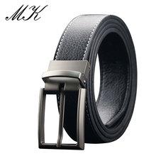 Maikun Belts for Men Casual Genuine Leather Luxury Reversible Pin Buckle Belt For Jeans