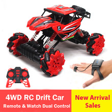 4WD Rock Crawler RC Car Drift Remote Watch Dual Control Kids Gift Toys For Boys Electric Vehicle Truck 4x4 Drive 2.4Ghz 3755