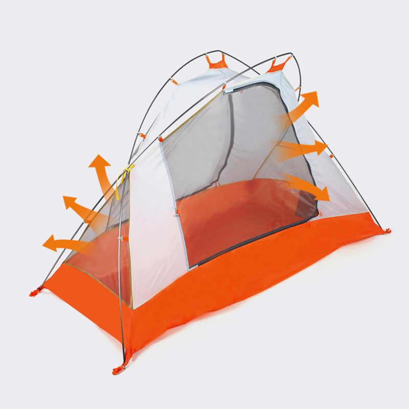 Hewolf unique cyclisme tente ultraléger 4 saison Double couches tige en aluminium imperméable en plein air Camping randonnée tentes 210x138x110cm