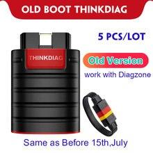 5 sztuk/partia stary Boot Thinkdiag Diagzone samochodów czytnik kodów OBDII stara wersja stary Chip pełny System Auto skaner Bluetooth