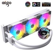 GO-enfriador de agua AT240/360 CPU Aura Sync RGB, ventilador de refrigeración de CPU líquida de 120mm, radiador LGA 2066 2011 1200 1151 1155 AM4 AM3 + TR4