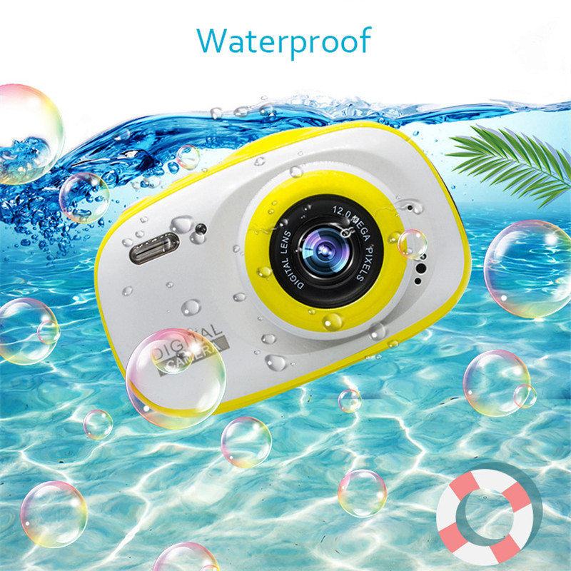 Kids Waterproof Digital Camera Toys 2 Inch HD Screen Lovely Camera Digital Outdoor Underwater Photography Children Birthday Gift