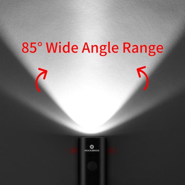 Rockbros luz da bicicleta à prova de chuva usb recarregável led 2000mah mtb frente lâmpada do farol alumínio ultraleve lanterna bicicleta luz 3