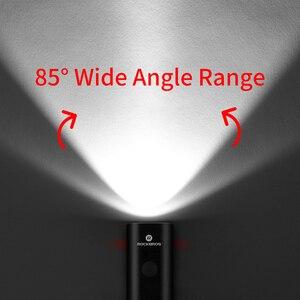 Image 3 - ROCKBROS bisiklet ışık yağmur geçirmez USB şarj edilebilir LED lamba 2000mAh MTB ön lamba far alüminyum Ultralight el feneri bisiklet ışığı