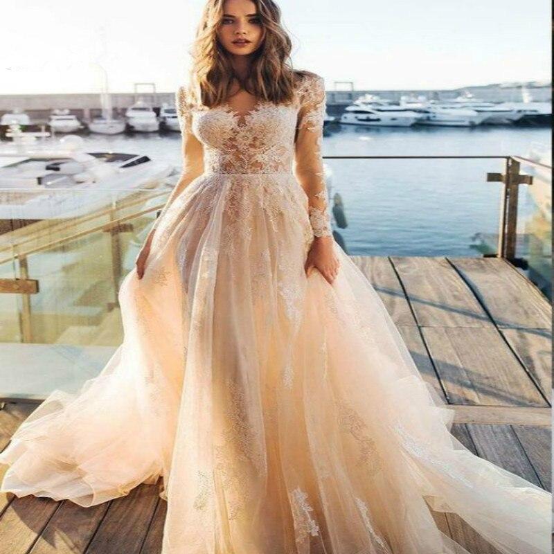 Пляжное свадебное платье в стиле бохо шикарное готическое невесты