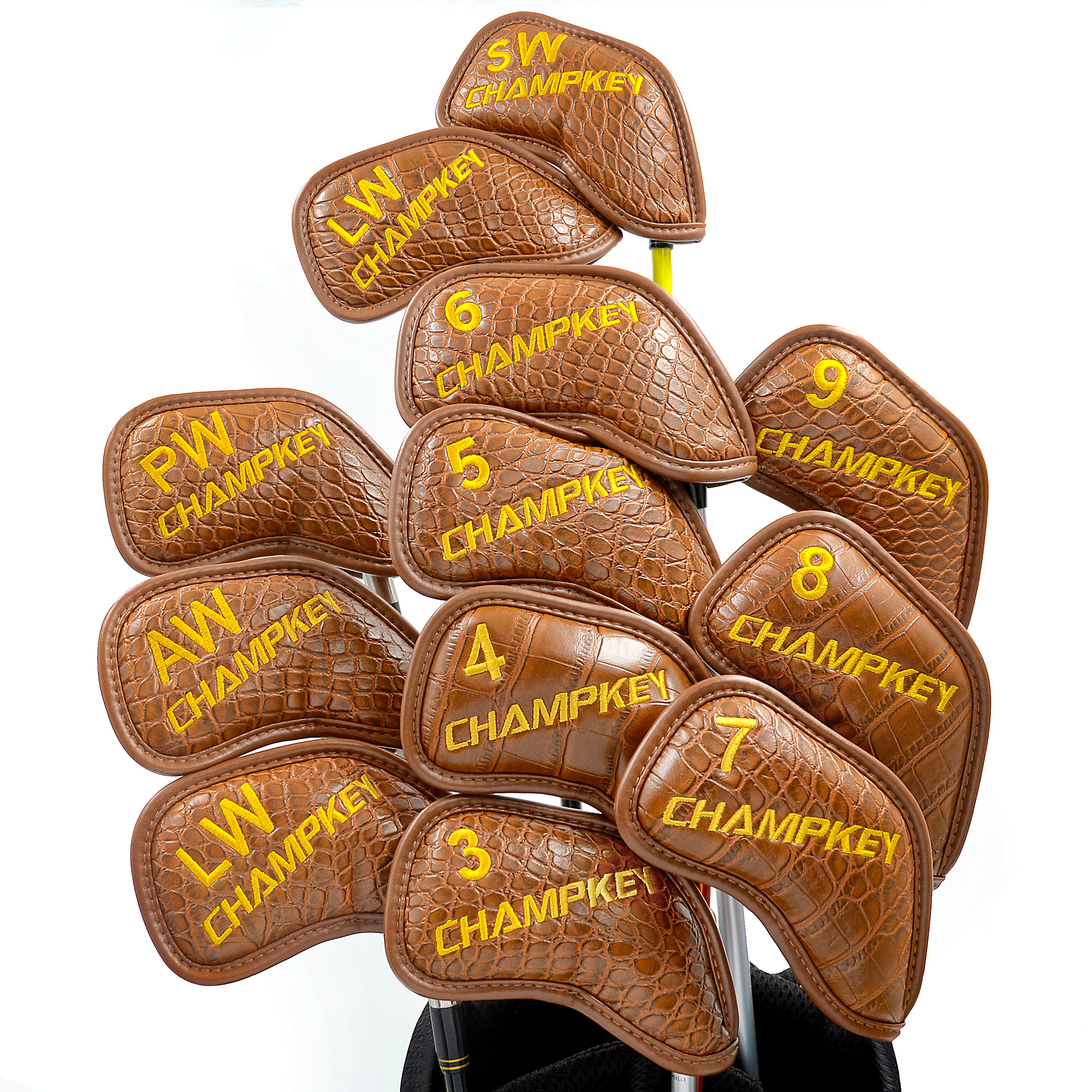 NEW Champkey Golf Head Cover 12PCS Golf Club Iron Putter Protector Set 2 Colors Headcover Accessory Ball Head Protective Cover