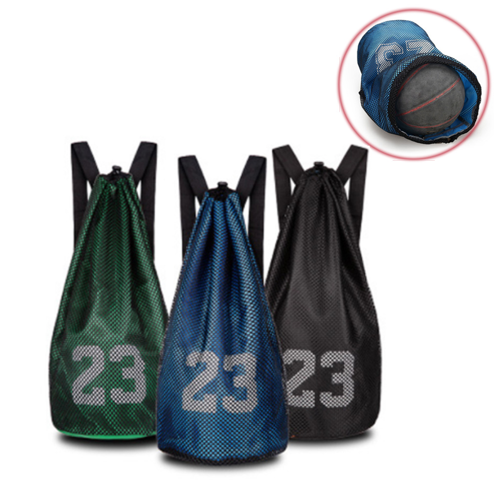 Basketball Sports Bags Football Volleyball Soccer Storage Mesh Bag Fitness Bucket Bag Outdoor Basketball Backpack For Men