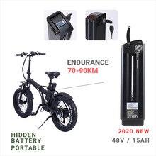 Vélo électrique de 20 pouces avec batterie au lithium de 48V, 15ah, pour adultes