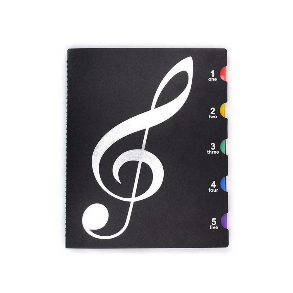 Creative A4 Music Book Folders Piano Multi Function Supplies Holder Practical School Score Stationery File F2Y9
