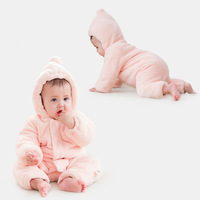 Ins2019 Autumn And Winter New Style Baby Christmas Hat Costume Brushed And Thick Infants Onesie