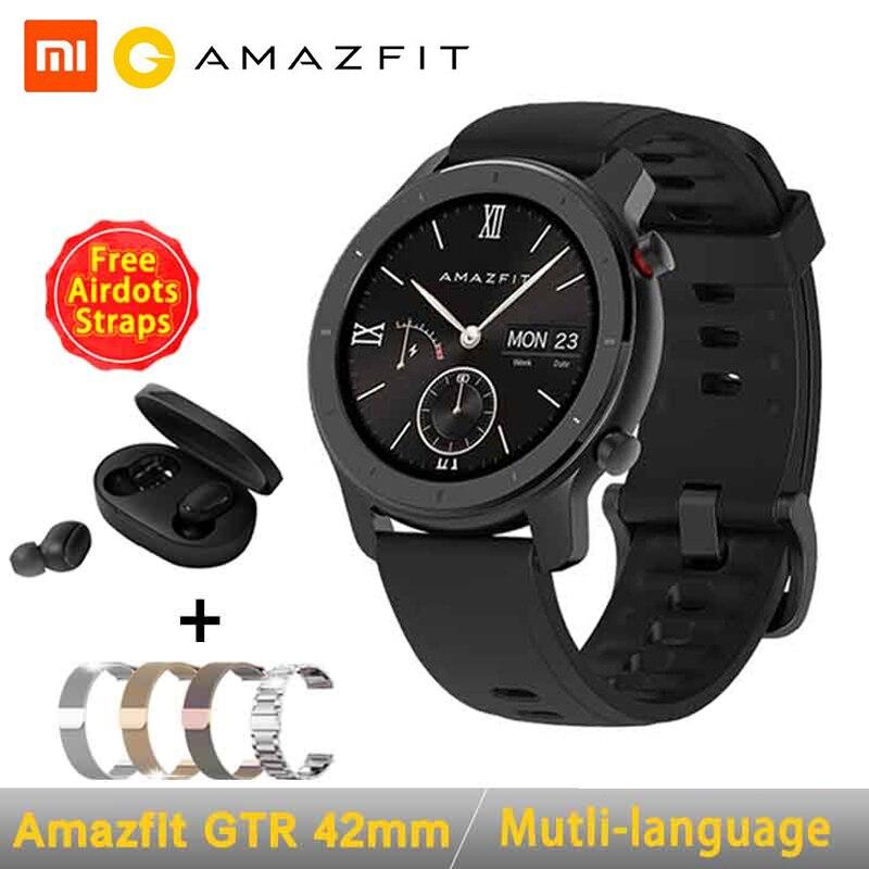Глобальная версия Amazfit GTR Смарт-часы 42 мм 5ATM 24 дня батареи GPS и ГЛОНАСС Смарт-часы для женщин часы для мужчин