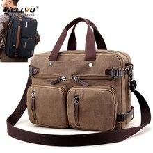 Erkekler tuval evrak çantası iş dizüstü çanta büyük Messenger omuzdan askili çanta büyük rahat erkek Tote sırt çantaları seyahat bavul XA162ZC