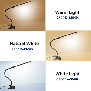 Image 3 - Lámparas LED de mesa de brazo largo, 80 LED, 8W, para lectura de escritorio, oficina, protección para los ojos, luz alimentada por USB, atenuador plegable, abrazadera de 10 niveles