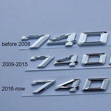 цена на Chrome Letters Numbers Emblem 730Li 740Li 750Li 760Li M730Li M740Li M750Li M760Li for BMW 2009-2019 Car Styling Trunk Sticker