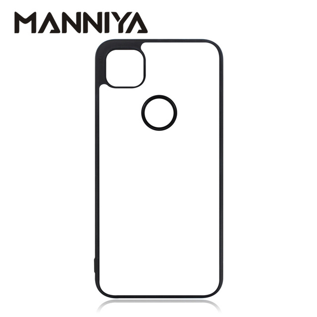 MANNIYA für Google pixel 4 pixel 5 pixel 4XL 5XL Blank Sublimation gummi Fall mit Aluminium Einsätze 10 teile/los