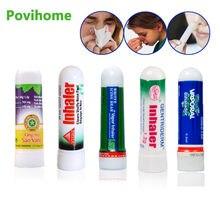 Inhalador Nasal de Tailandia, 5 tipos de 100%, aceites esenciales nasales originales, crema de menta para rinitis, refresca la nariz, pomada Herbal fría