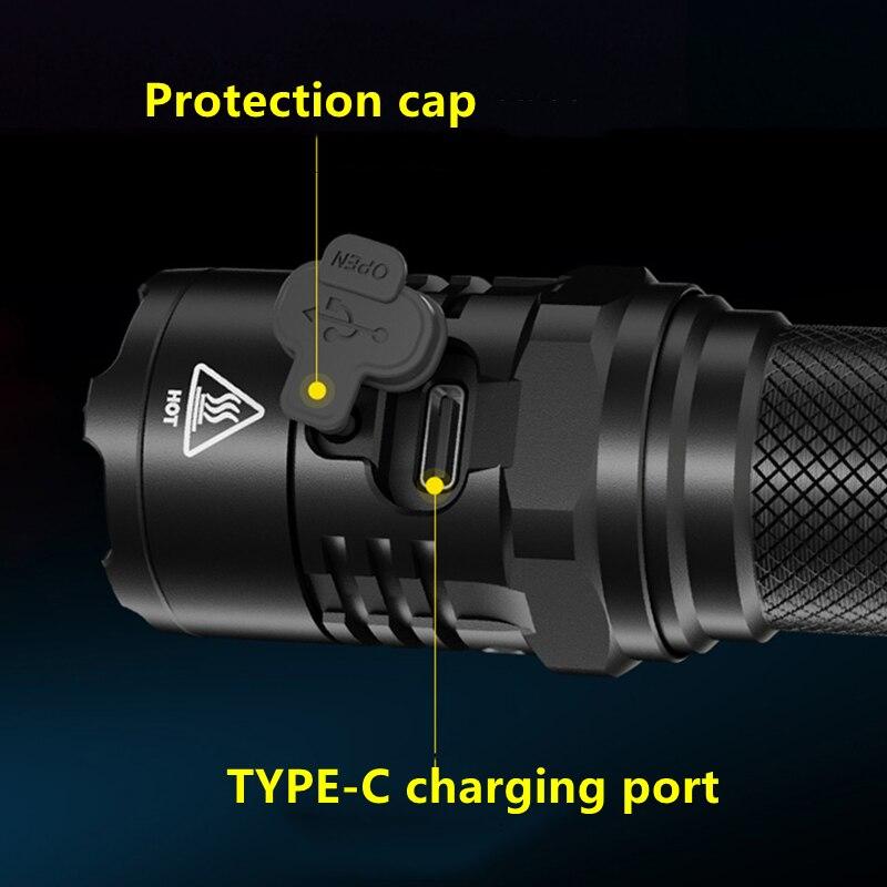 super brilhante 1800lumens com 4000mah bateria auto defesa flashligh 02