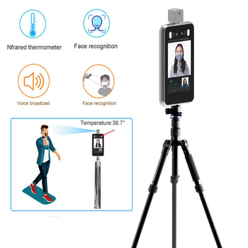 Non contact Thermometry Thermography thermal imaging system Body Temperature Facial Recognition Camera web Alert entrance guard