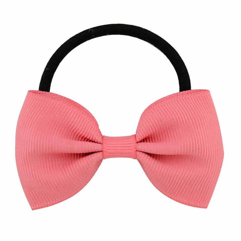 เด็กผู้หญิงผมผูกผมวงยางยืดผม GUM น่ารัก Bowknot Scrunchy เด็กอุปกรณ์เสริมผม Hairband เชือกผม