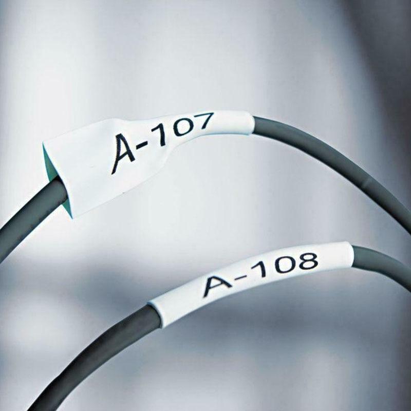 Labeling Machines Heat Shrinkable Tube11.7mm For Brother PT-E300VP PT-E550WVP Casing Marking Machine Heat Shrinkable Tube Printe