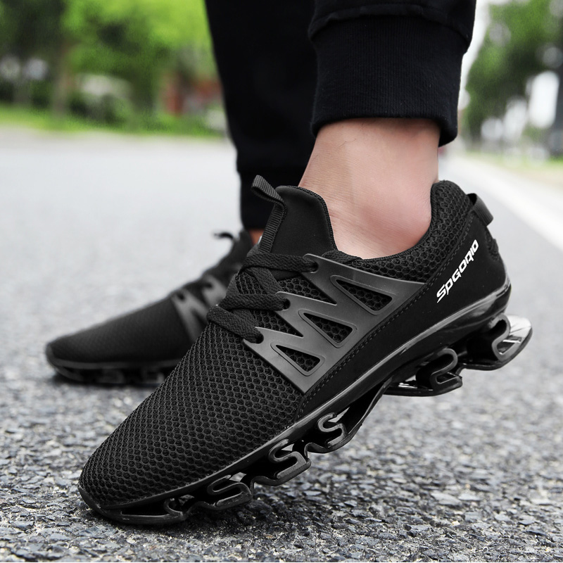 SUROM Man Sneakers 2020 Spring New Fashion Male Shoe Breathable Elastic Wear-resistant Outsole Training Shoes Man Big Size 38-48