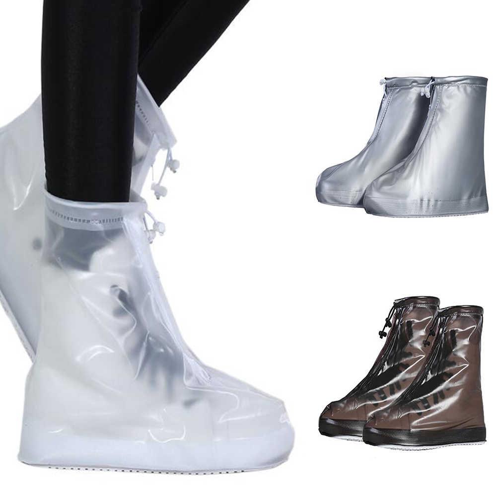 Yeni Unisex Kaymaz Aqua Ayakkabı Unisex Su Geçirmez Koruyucu Ayakkabı bot kılıfı yağmur ayakkabısı kılıfları Yüksek Top Yağmurlu Bir Gün Açık Ayakkabı