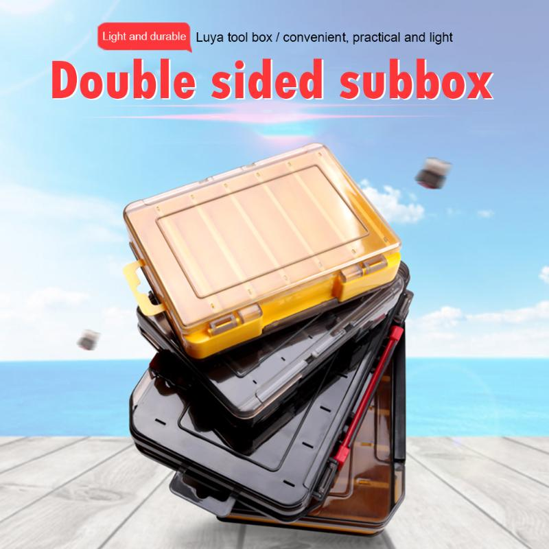 Fishing Lure Box Double Side Bait Hook Case Organizer Lure Fishing Tackle #w