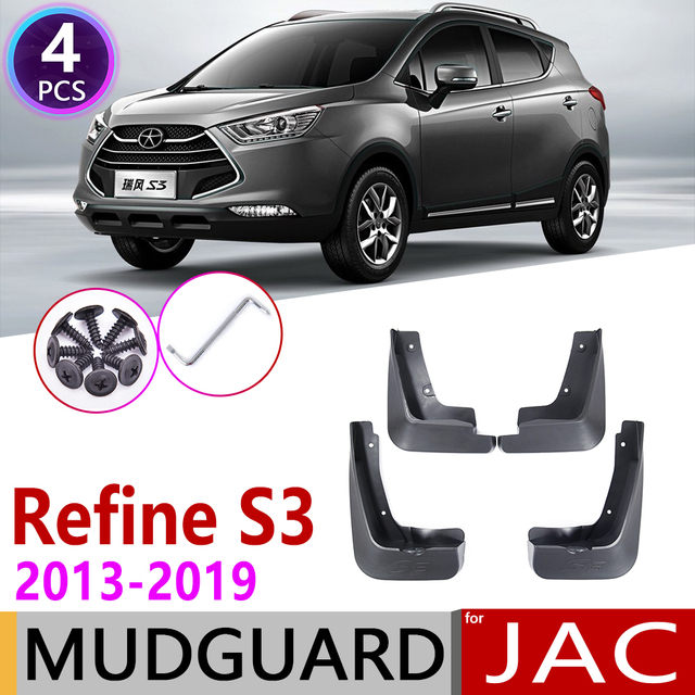 Mudflap para JAC refinar S3 2013 ~ 2019 T50 T5 guardabarros guardia Splash solapa guardabarros 2014 accesorios 2015 2016, 2017, 2018,