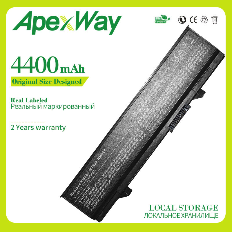 Apexway Laptop Battery For Dell Latitude E5410 E5400 E5500 E5510 312-0762 312-0769 451-10616 KM742 KM769 0RM668 312-0902