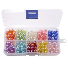 8mm 200pcs/box Mix Color Acrylic Loose Round Beads for Jewelry Making Findings&Components