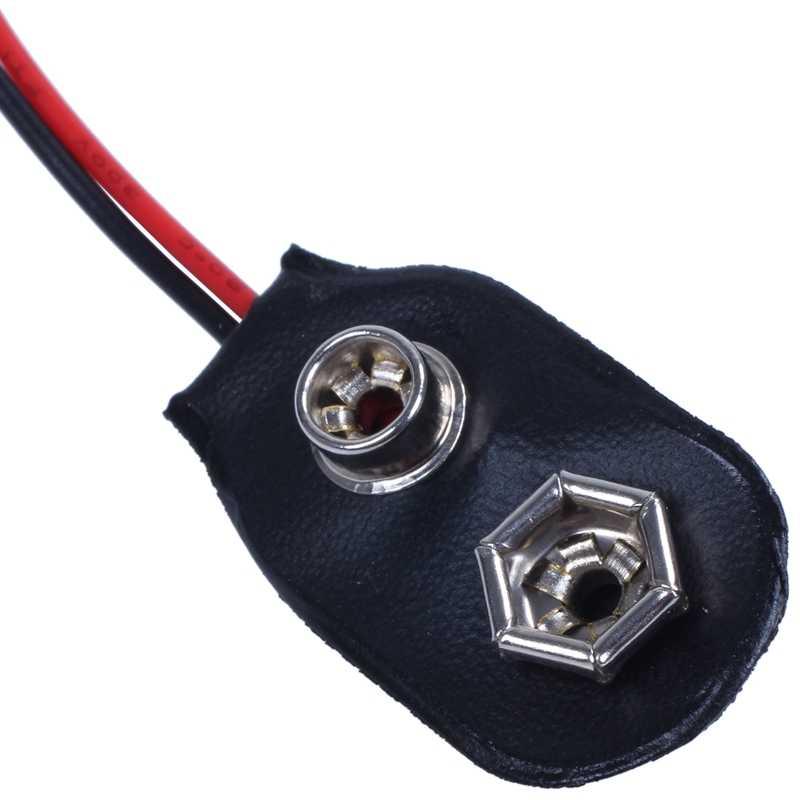 2pcs 15cm Wire Cable 9V 9 Volt Battery Clip Connector I Type Q9P7