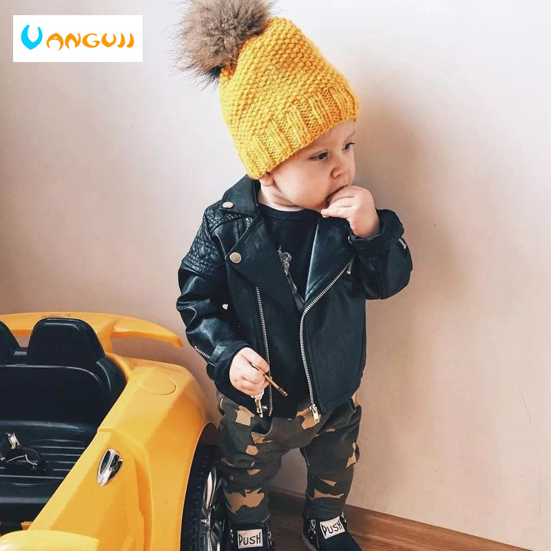 Jacket QUILTED Girls Coat Spring Motorcycle Cool Boys Autumn Children's Zipper Fashion