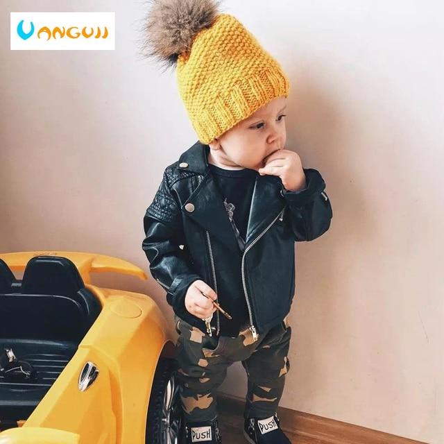 Jongens Pu Jas Lente Herfst Kinderen Motorfiets Lederen 1 7 Jaar Oud Fashion Kleur Diamond Gewatteerde Rits Meisjes jas Cool