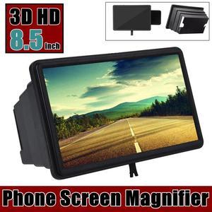 Lupa estereoscópica para pantalla de teléfono 3D, soporte de amplificador HD de 8,5 pulgadas, amplificador de pantalla para películas y vídeos de escritorio