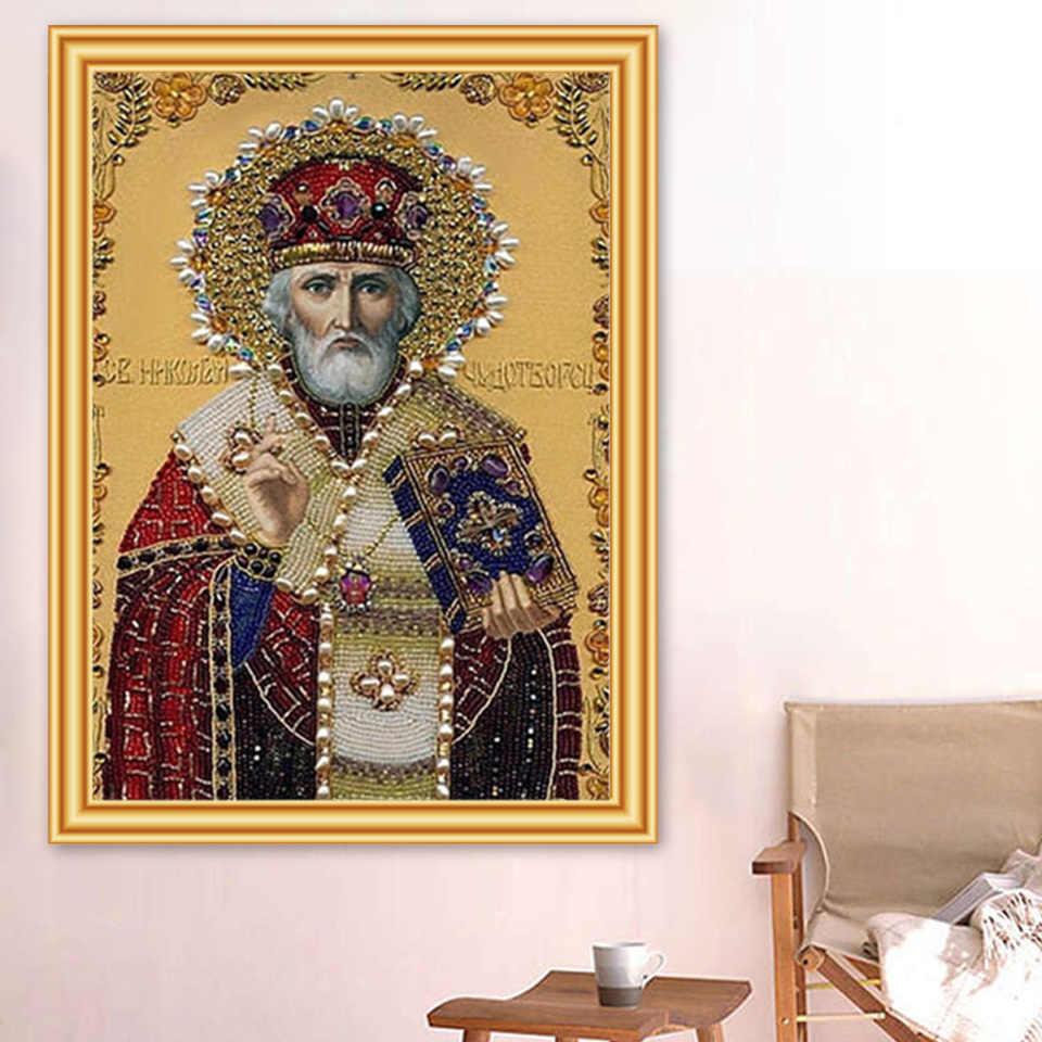5D FAI DA TE Diamante Pittura Religione Icone Punto Croce Piena di Trapano Piazza Diamante Ricamo Mosaico Religioso di Arte Strass Decor
