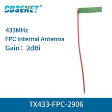 10 개/몫 433 mhz fpc wifi 안테나 용접 인터페이스 2dbi TX433 FPC 2906 무 지향성 fm 안테나