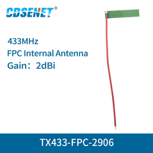 10pc/lot 433MHz FPC Wifi Antenna Welding Interface 2dBi TX433 FPC 2906 Omnidirectional fm Antenna