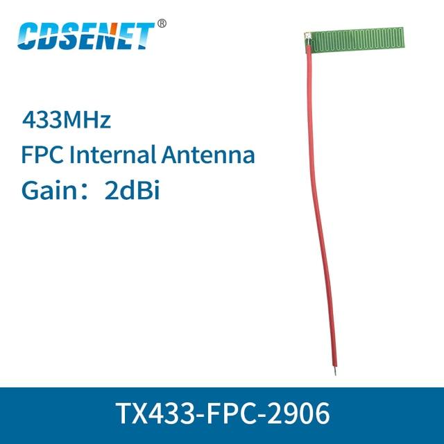 10pc/lot 433MHz FPC Wifi Antenna Welding Interface 2dBi TX433 FPC 2906 Omnidirectional fm Antenna