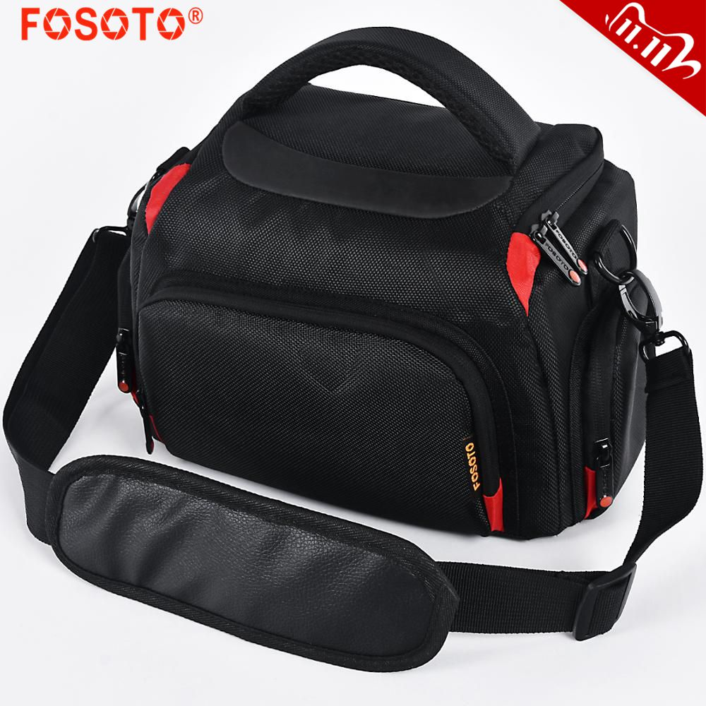 FOSOTO DSLR Fashion Shoulder Bag Digital Video Photo Photography Bag Waterproof Camera Bag Travel Case For Canon Nikon Sony Lens