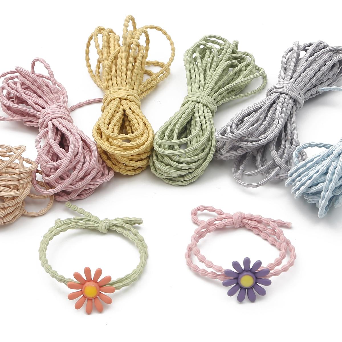 Nowy kolorowy 3mm 5 m/partia wysokiej elastycznej fali gumką przewód elastyczny wątek do tworzenia biżuterii DIY bransoletka akcesoria do szycia