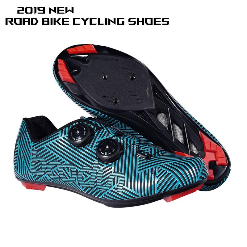 2019 nouveau vélo de route cyclisme chaussures ultra-léger anti-dérapant résistant à l'usure profession auto-verrouillage chaussures sports de plein air vélo chaussures