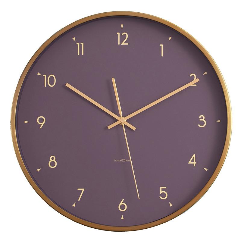 Luxury Metal Wall Clocks Silent Nordic Golden Living Room Minimalist Home Clock Modern Design Stylish Decoracion Comedor AA50WC