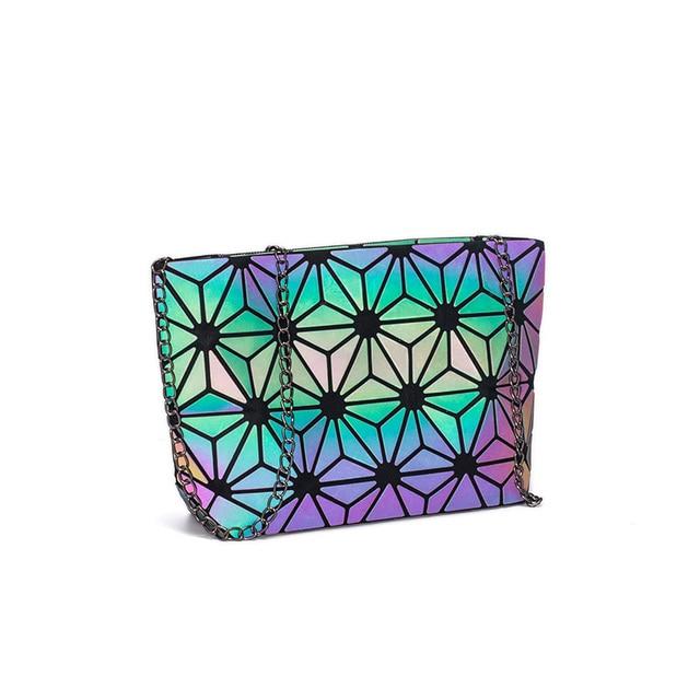 DIOMO Messenger Bag Women's Chain Bag 2019 Fashion Luminous Geometric Sling Bag Sac Femme Shoulder Strap Female Bolsas Feminina 1