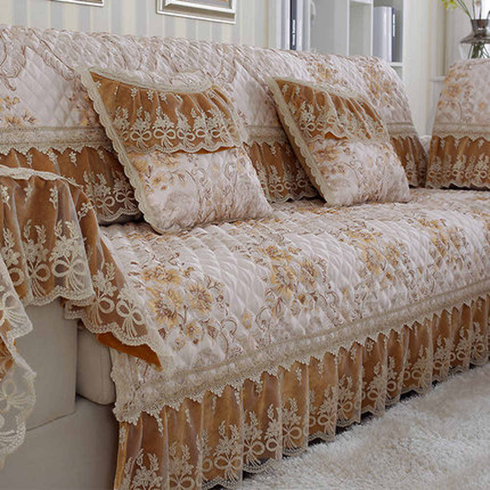 high end luxury sofa sets cover sofa yellow jacquard lace sofa slipcovers cotton linen sectional couch covers lace towel