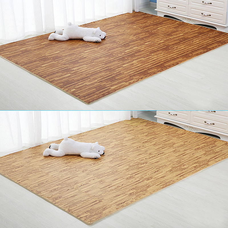 Hf74c23bf362b4c0d97e3468792cb21afj Wooden Puzzle Mat Foam 30*30*1cm Baby Play Mat Splicing Bedroom Soft Floor Interlocking Kids Rug Living Room Gym Crawling Carpet