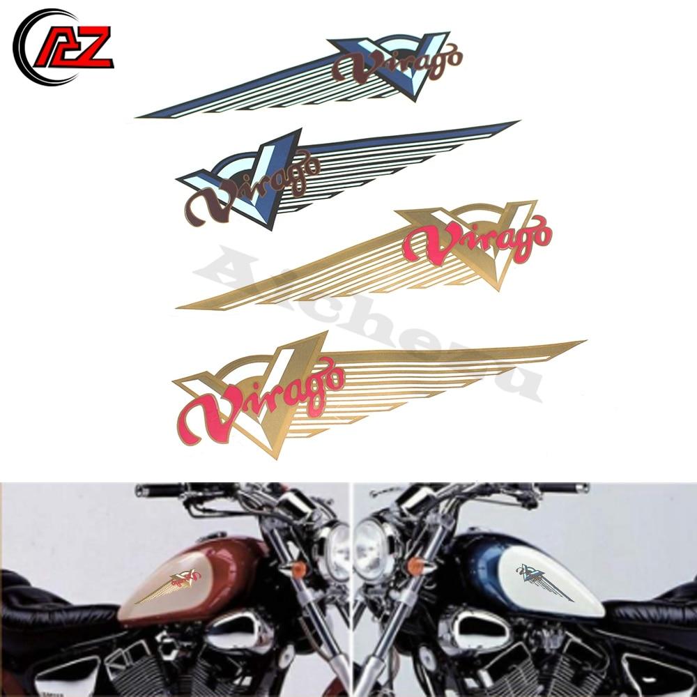145x22mm Gold Motorbike Badge Emblem Motorcycle Fuel Petrol Tank Decal Stickers