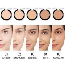 Ajuste de maquiagem pressionado pó encolher poros invisível mate compacto pó controle de óleo fosco compõem natural acabamento rosto