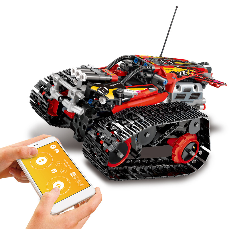 Technic RC Tracked Stunt Racer Building Blocks Creator APP Remote Control Car Bricks Toys Gifts For Children Fit Legoing