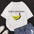 Футболка для женщин больших размеров 2021 Летняя обувь с рисунками банана Harajuku женские футболки y2k Топ Femme повседневная одежда модные топы жен...